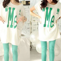 """Me"" Oversized Individual Cotton Batwing Loose Tshirt"
