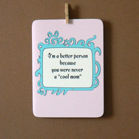 $4.00 Funny Mother's Day Card by 4four on Etsy
