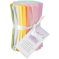 "Cotton Fabric Designer Essentials Soft Solids Collection  6"" Fabric Solid Strips 100% Cotton 20 ct"