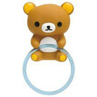 San-X Rilakkuma Bath Kitchen Towel Rack w Suction Cup - Hong Kong
