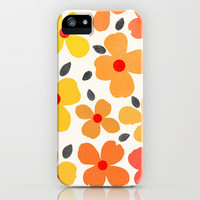 Dogwood - Saffron iPhone Case by Garima Dhawan