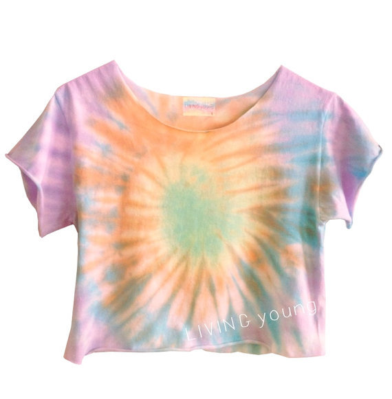 Ombre swirl pastels unique tie dye swirl from living young for Custom tie dye t shirts