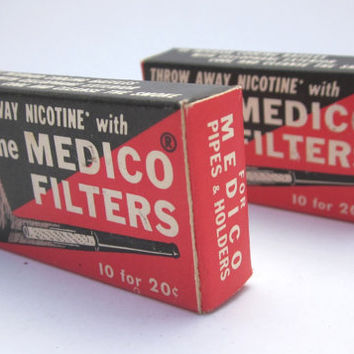 Medico Pipe Filters, 2 packages, total of 20 new in box, Great collectible