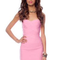 Go Band in Band Dress in Pink :: tobi
