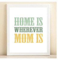 &#x27;Home is Wherever Mom Is&#x27; print poster