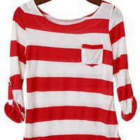 Perfect Everyday Shirt, Crimson Stripes