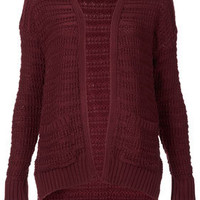Knitted Step Hem Cardi - Sale  - Sale & Offers