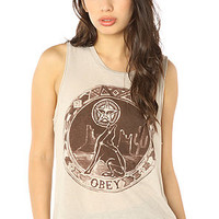 Obey Tank Star Gazer Felon Muscle in Grey