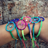Colorful Dream Catcher Macrame Bracelet