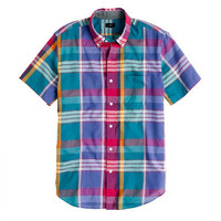 Indian cotton short-sleeve shirt in sunset plaid - shirts - Men's new arrivals - J.Crew