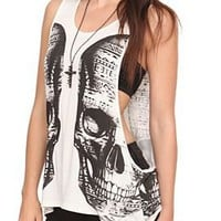 Cream Double Vision Tank Top - 10005384