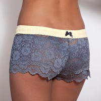 FOXERS -  Yellow and Gray Lace Boxer Short