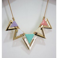 Pastel Color Block Necklace