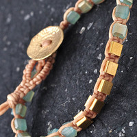 Opal Block Bracelet: Sky [PB031] - $11.99 : Spotted Moth, Chic and sweet clothing and accessories for women