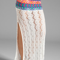 Jen&#x27;s Pirate Booty Malibu Slit Skirt in White from REVOLVEclothing.com