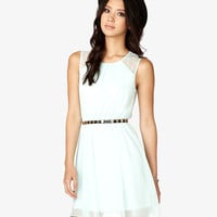 Lace-Paneled Georgette Dress | FOREVER21 - 2034890150