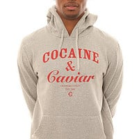 Crooks and Castles Sweatshirt Men's The Cocaine & Caviar Crewneck in Gray