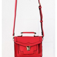 Vintage Red Satchel