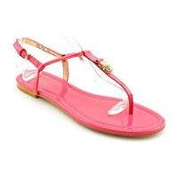 Amazon.com: Coach Rosati Womens Size 6 Pink Open Toe Patent Leather Gladiator Sandals Shoes: Shoes