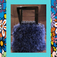 Saturday SUPER SaleHMCSapphire Blue Handbag Cotton by ArtisticFunk