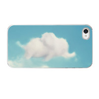 Elephant iPhone Case, Cloud iPhone Case, Clouds iPhone Case, iPhone 5 Cover, iPhone 4 Case 4s, Dumbo iPhone, Case, Sky Blue, Cute Funny