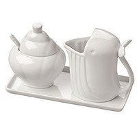 PLASTICLAND - Whale / Shell Ceramic Creamer and Sugar Pot