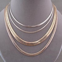 Vintage Gold Braided Chain Strand Necklaces Three Piece Lot