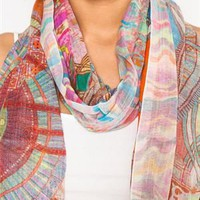 Tantra Fantasy Pattern Embellished Scarf - Spanish Summer Accessories by Tantra - Modnique.com