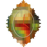 DENY Designs Home Accessories | Madart Inc. Maze of Colors Baroque Clock