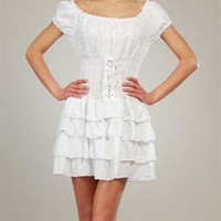Everest Ruffled &amp; Pleated Dress Made In Italy - French Weekend: Everest Apparel for Her - Modnique.com