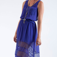Lace Hemline Day Dress