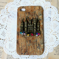Colorful castle wooden pattern iPhone Case fits for by HaHaCup