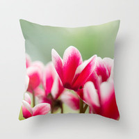 Red Blossoms Throw Pillow by AngsanaSeeds