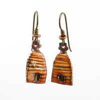 Little Beehive Dangle Earrings