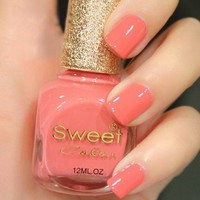 Peach Pink Sweet Color 12 ml Nail Polish 