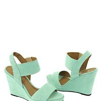 Eye Solid Color Suede Leather Wedges - Italian Summer Shoes by Eye Brand - Modnique.com