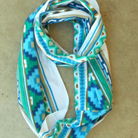 Dreamcatcher Infinity Scarf in Indigo [3637] - $21.00 : Vintage Inspired Clothing &amp; Affordable Fall Frocks, deloom | Modern. Vintage. Crafted.