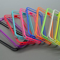 10pcs/lot Colorful Clear Bumper Frame TPU Case Cover for Iphone 5 5g w/ Volume Button