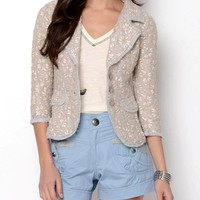 Nick &amp; Mo Knit Embroidered Blazer - Nick &amp; Mo Women&#x27;s Apparel - Modnique.com
