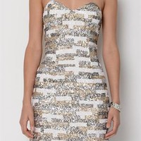 Shail K. Three-Color Sequined Mini Dress - Shail K Dresses - Modnique.com