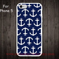 iPhone 5 Case Nautical Anchor iphone 5 case blue by MyTeenageDream
