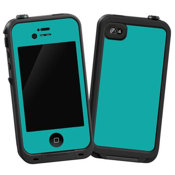 Turquoise Skin for iPhone 4/4s LifeProof Case