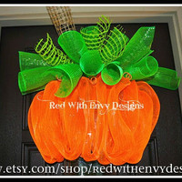 Large Halloween Wreath, Halloween Wreath, Deco Mesh Wreath, Wreath,Pumpkin, Pumpkin Wreath