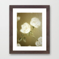 Fractalius Roses Framed Art Print by Shalisa Photography