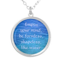 Ocean more water blue personalized necklace from Zazzle.com