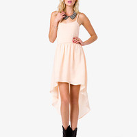 Spaghetti Strap High-Low Dress