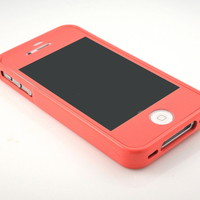 G&amp;J Brand Prime Deep Peach Slim hard Silicone case cover for iPhone 4 4S 4G 