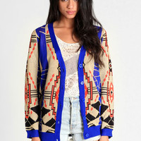 Aztec Ruins Printed Cardigan - $46.00 : ThreadSence, Women's Indie & Bohemian Clothing, Dresses, & Accessories