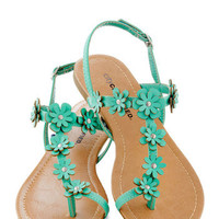 Garden Garland Sandal in Turquoise | Mod Retro Vintage Sandals | ModCloth.com