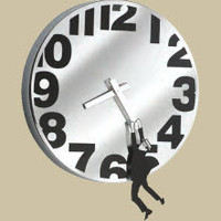 Hanging Man Wall Clock - The Afternoon